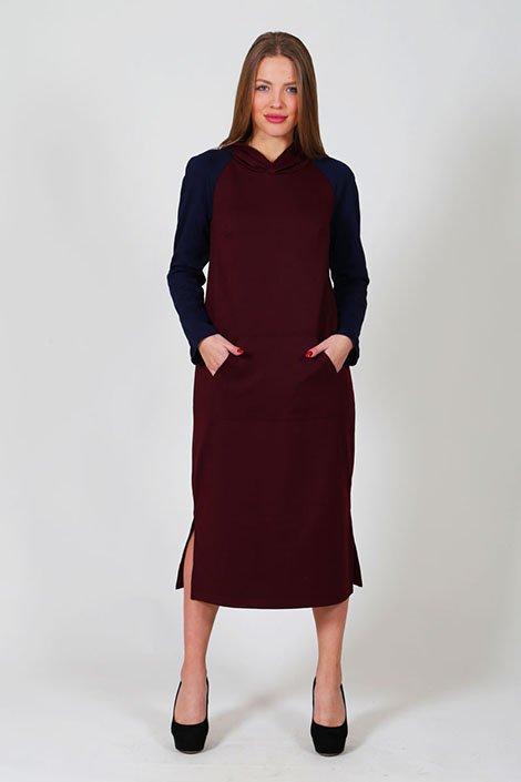 c8f915e2af0 Платье женское П 165 милано (р-ры  46-60) бордо – купить за 1580 руб ...