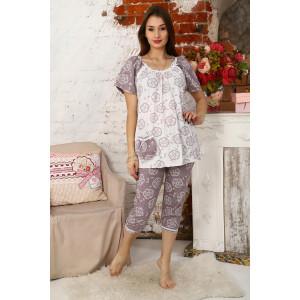 """Пижама женская М43 """"Мальвина"""" кулирка (последний размер) кремовый 52 – купить за 483 руб. в интернет магазине Текстиль Всем"""